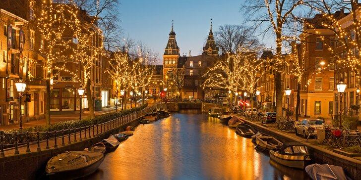 Prožijte adventní víkend v Amsterdamu včetně prohlídky města s průvodcem