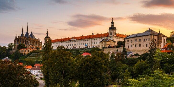 Romantika v historickém srdci Kutné Hory s jídlem i wellness nebo vstupy do památek