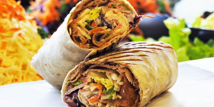 Malý, velký nebo XXL kebab v tortille či pitě s náplní podle výběru