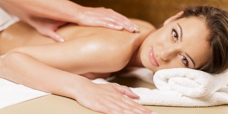 Klasická či relaxační masáž zad nebo dolních končetin