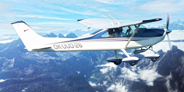 Seznamovací lety nad krásami Šumavy: 30 nebo 60 minut v letadle Sky Lane