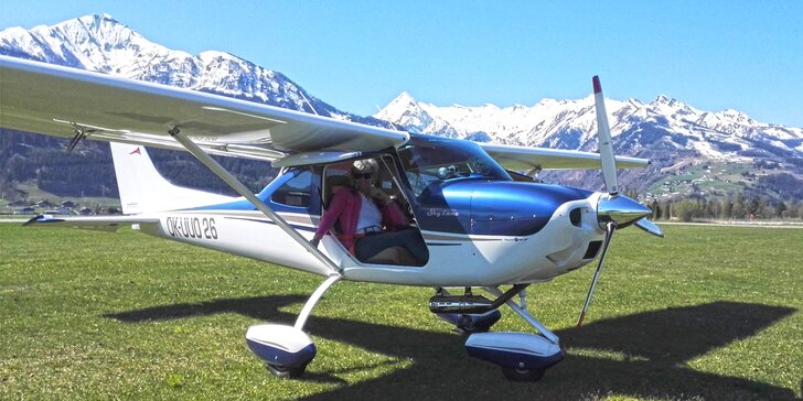 NP Šumava z ptačí perspektivy: pilotem na zkoušku letadla Sky Lane