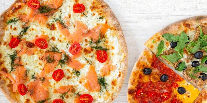 Dvě parádní pizzy o průměru 32 cm podle výběru z celkem 16 druhů