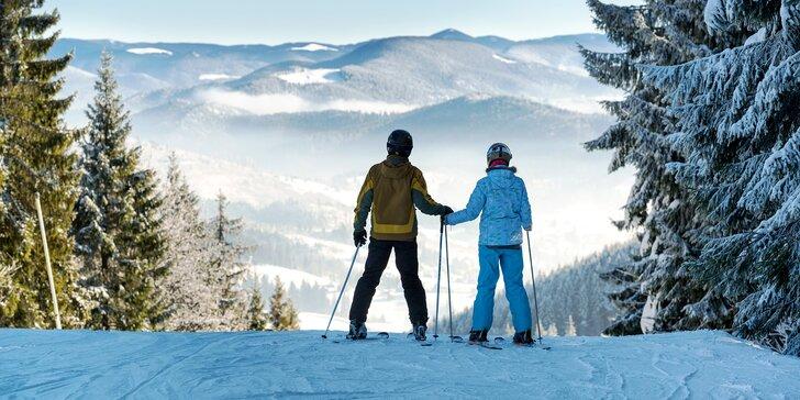 Skvělá zimní lyžovačka i jarní dovolená v Krušných horách s polopenzí, saunou i bazénem