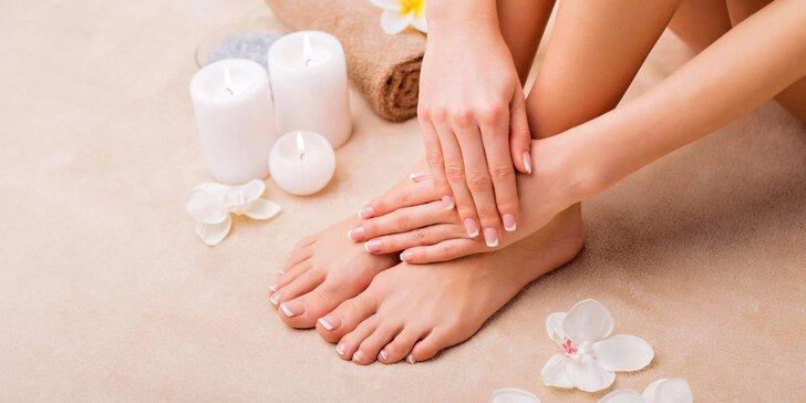 Blaho pro ruce a nohy: Mokrá aroma pedikúra a klasická manikúra pro ženy