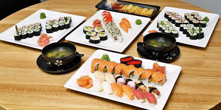 Japonsko v srdci Karlína: 24–74 kousků sushi i se závitky či salátem wakame