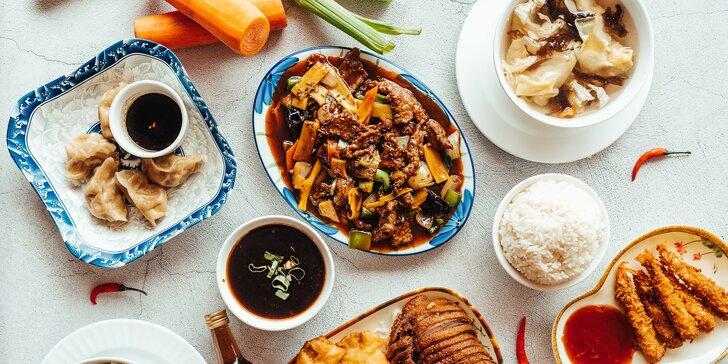 Menu pro milovníky čínské kuchyně: 3 nebo 4 chody a víno jako dárek