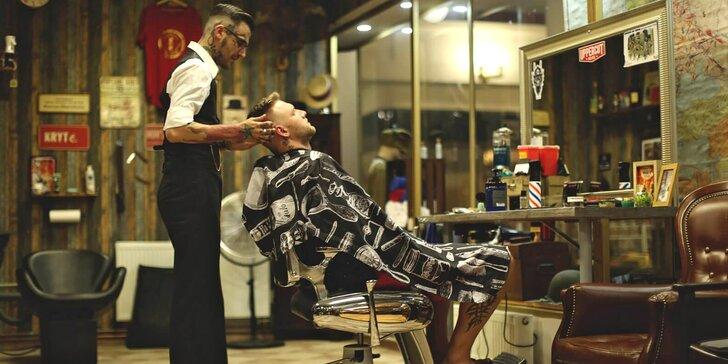 Barber péče pro pány: úprava vousů, holení, střih i kompletní balíčky s foukáním a stylingem