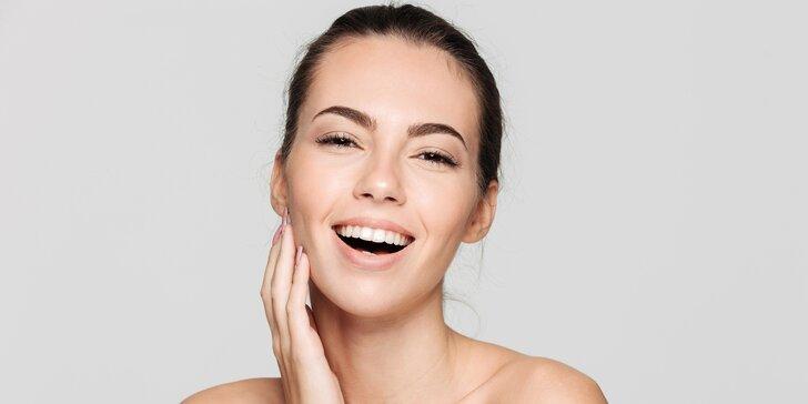 Kosmetické ošetření PDT lampou s aplikací pleťové masky i masáží obličeje