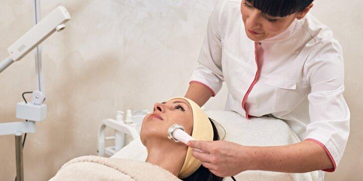 Kosmetické ošetření pleti ultrazvukem s možností dermabraze i aplikace aktivních látek