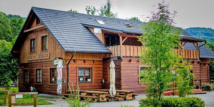 Pohoda v Dolní Lomné: apartmán pro rodinu a 60 min. privátního wellness