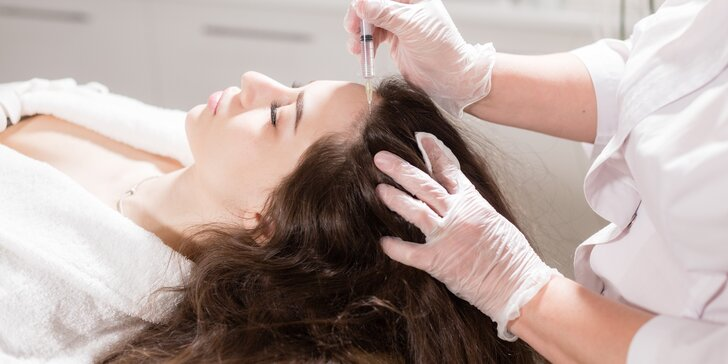 Vlasová mezoterapie pro krásné a husté vlasy: 1 nebo 3 ošetření