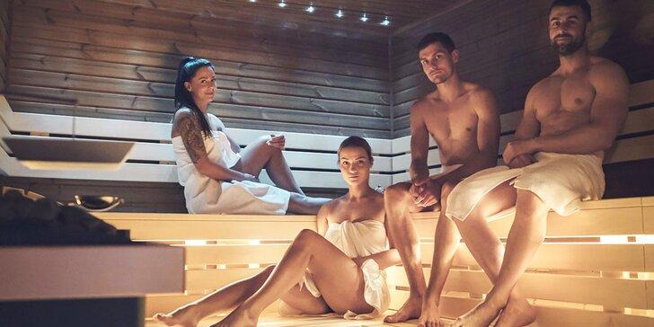 Na 120 minut do veřejného wellness: několik saun, parní kabina, vířivka