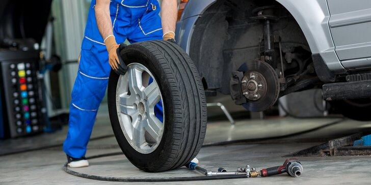 Přezutí pneumatik celého vozu či přehození disků i vč. diagnostiky vozu