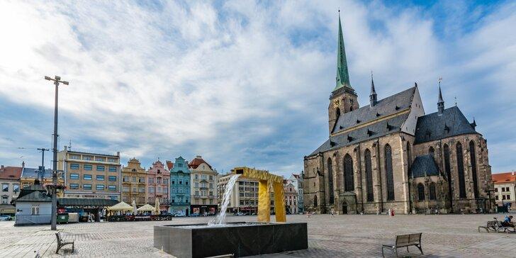 Dovolená v Plzni: ubytování se snídaní a slevou do restaurace pro 2 osoby