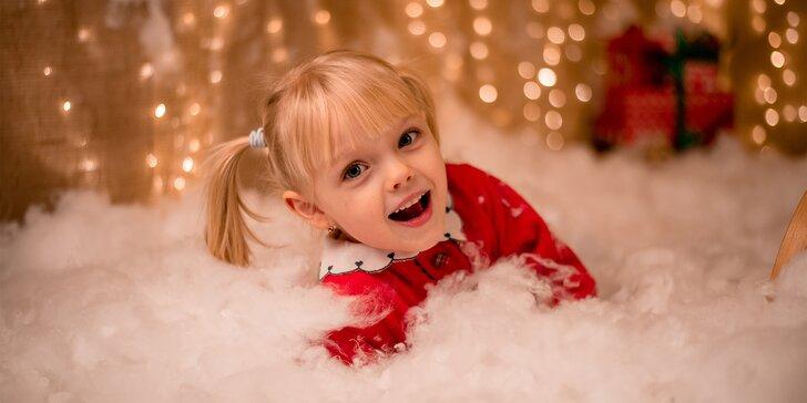 Vánoční focení pro rodiny s dětmi, páry i těhotné, 5 upravených fotek