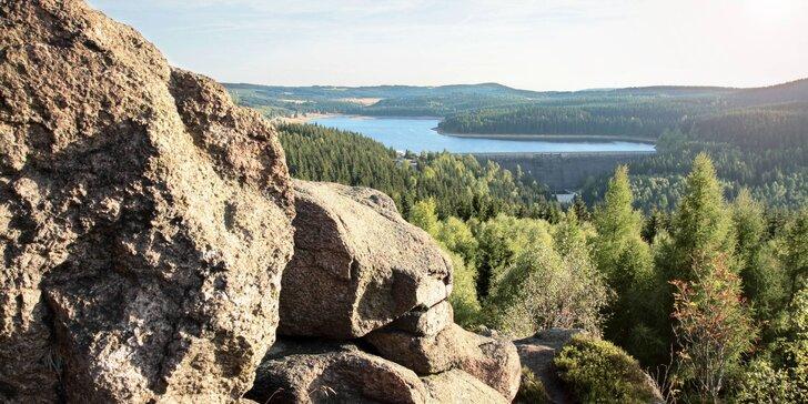 Aktivní dovolená s polopenzí nebo plnou penzí a saunou v Krušných horách