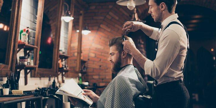 Barber péče pro pány: střih, úprava vousů, masáž hlavy i kompletní balíček