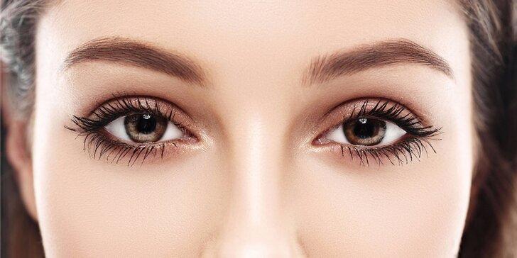 Úprava a barvení obočí i řas vč. masáže očního okolí nebo i trvalá na řasy