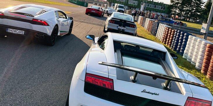 Jízda na Autodromu Brno v Lamborghini Gallardo nebo Porsche GT3 či 718: 1–4 kola s palivem