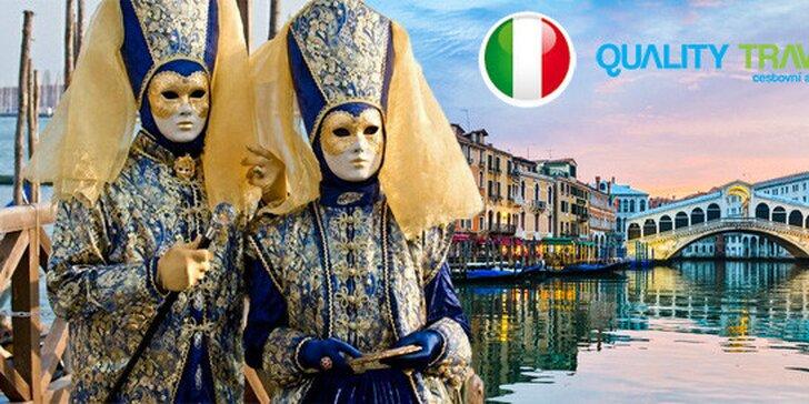 Výlet na karneval v Benátkách pro 1 osobu