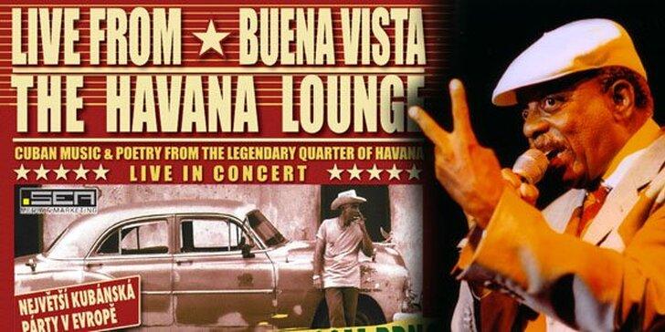 390 Kč za lístek na koncert Live from Buena Vista The Havana Lounge. Největší kubánská párty i nevšední valentýnský dárek se slevou 43%.