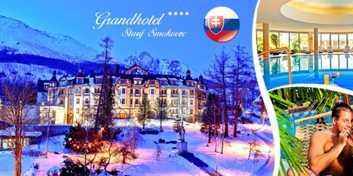 Luxusní wellness pobyt v Grandhotelu**** Smokovec v Tatrách