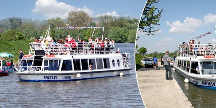 Dvouhodinová plavba výletní lodí Morava