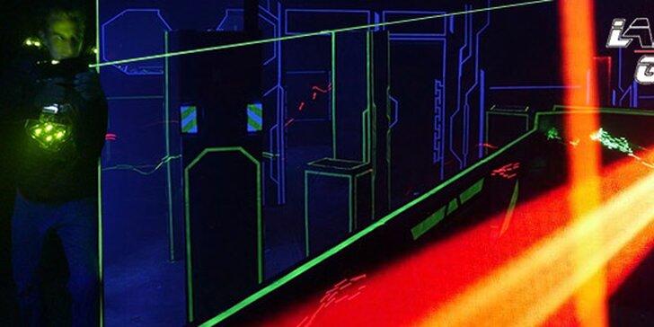 15minutová hra Laser Game až pro 14 osob
