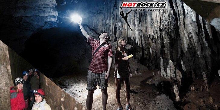 Adrenalinový sestup do nitra země a jeskyní