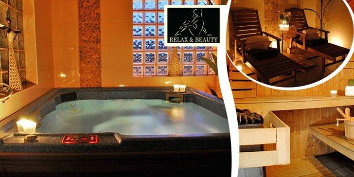 Blahodárná relaxace v sauně a vířivce pro dva