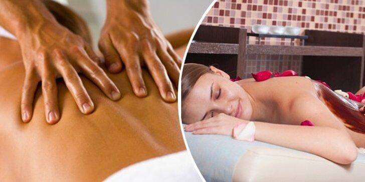 Luxusní hodinová masáž celého těla dle vlastního výběru