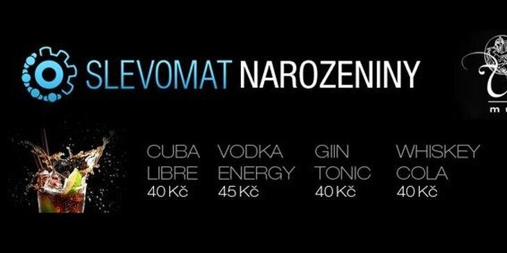 Grandiózní párty k oslavě 1. narozenin Slevomatu! Přijměte pozvání na událost roku s drinky za skvělou cenu. DJ Mersi, velkolepá show a vstup se 100% slevou.