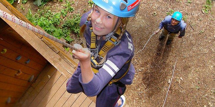 Adrenalin v lanovém parku i aquazorbing - léto 2016