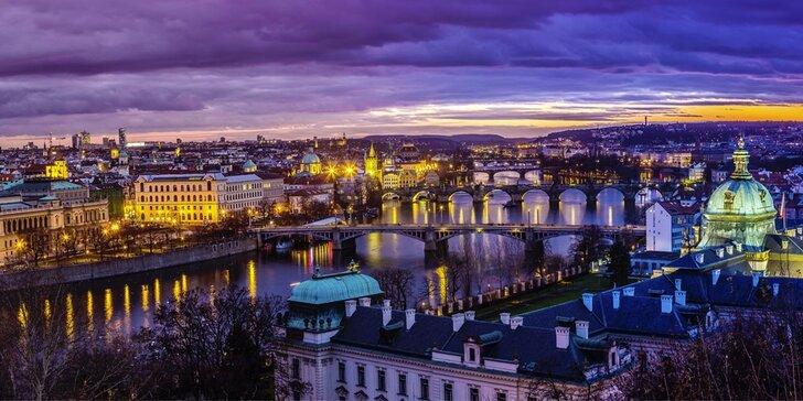 Romantický pobyt a snídaně v secesním hotelu v centru Prahy