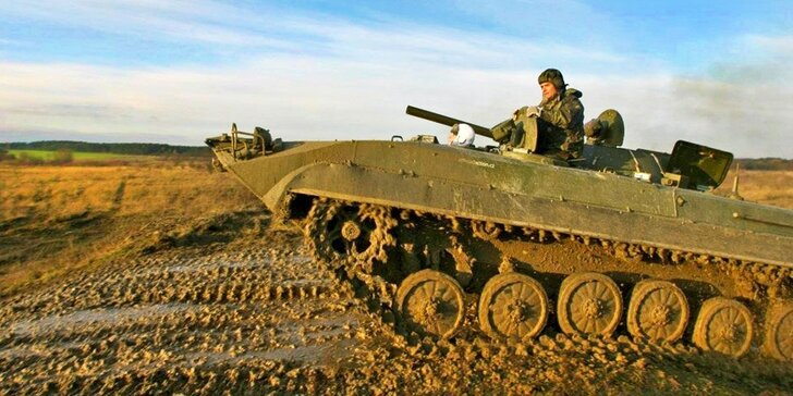 30minutová akční jízda v bojovém vozidle pěchoty