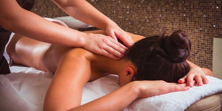 30, 60 nebo 90 minut odpočinkové masáže dle vlastního výběru
