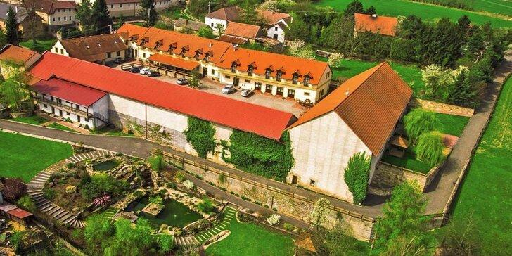 Odpočinek v přírodě nedaleko Prahy s privátním wellness
