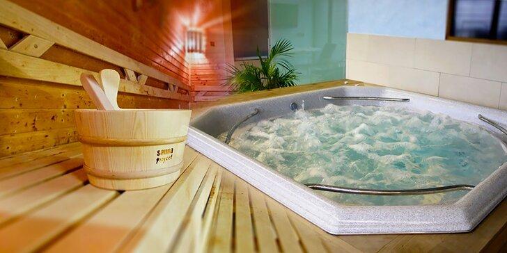 Lenošení ve dvou i v partě: 90 minut v privátní sauně a vířivce až pro 6 osob