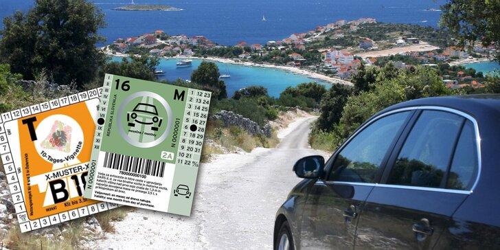 Dálniční známky a pojištění pro řidiče na cestu do Chorvatska