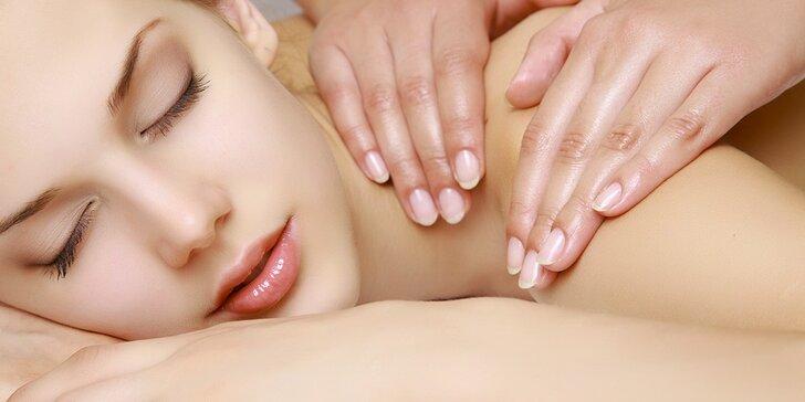 60minutové zdravotní a relaxační masáže na klinice To well Brno