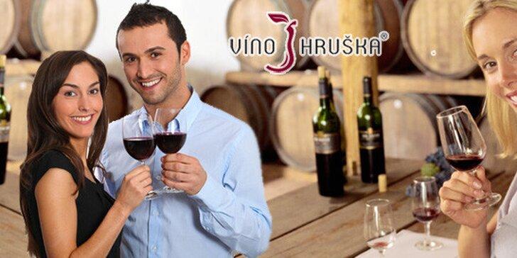 Řízená degustace vín a pokrmů. Láhev vína domů!