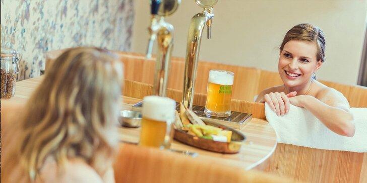 Romantický pobyt s pivní lázní a degustací v rodinném pivovaru