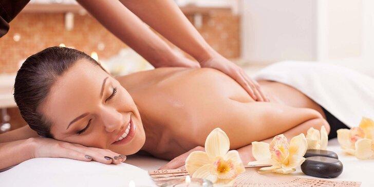 60 nebo 90 minut odpočinkové masáže – na výběr až ze 4 druhů
