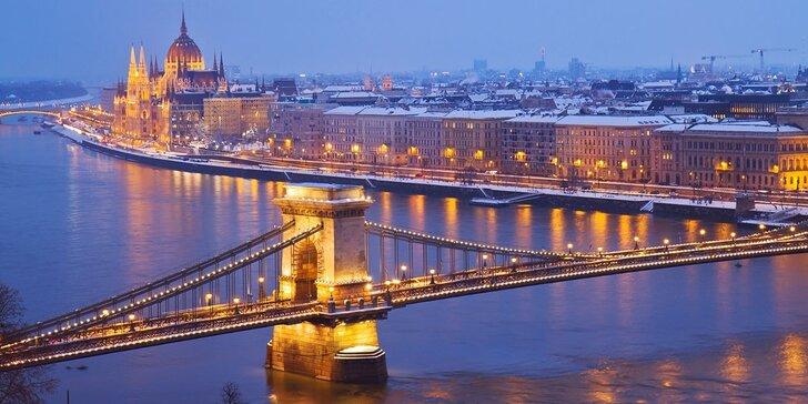 3 noci v předvánoční Budapešti s návštěvou lázní – výběr ze dvou hotelů