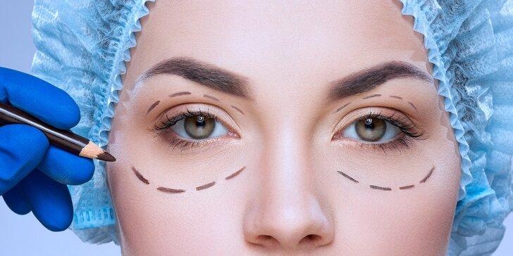 Operace horních nebo dolních očních víček v centru Medinel