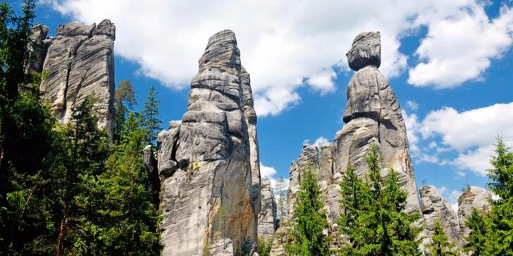 Podzimní pobyt na Broumovsku nedaleko Adršpašsko-teplických skal