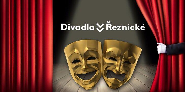 2 vstupenky na vybraná představení v Divadle v Řeznické s 40% slevou