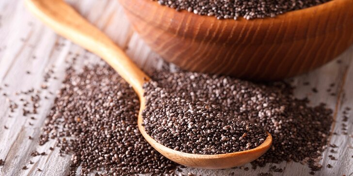 Superpotravina pro vaše zdraví: Kilo vakuově balených chia semínek