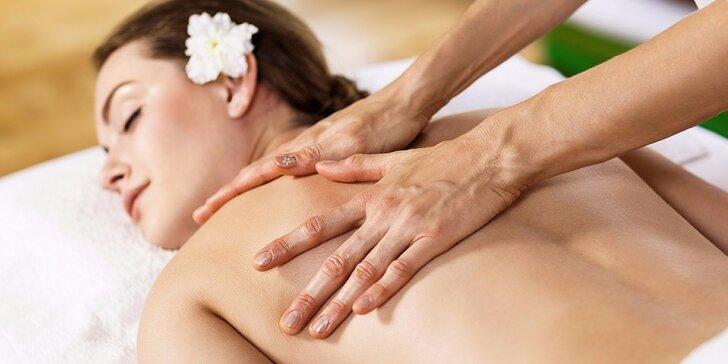 Masáž dle výběru - hloubková, relaxační, omlazující či proti bolesti